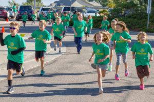 kids running at funrun