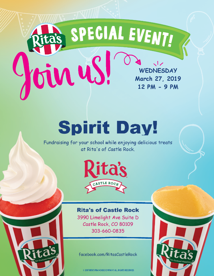 Rita's spirit night